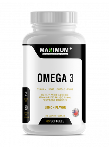 OMEGA 3 Lemon Flavor - FISH OIL - 1200MG OMEGA 3 - 720MG - 60 softgels per pack